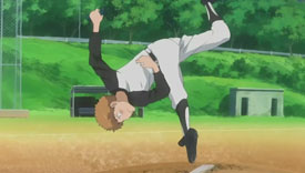 At camp, Mihashi gets special training from Momoe.