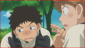 Abe moved to tears by Mihashi's hardships and dedication to pitching. He reflects on what Mihashi is going through and is able to understand him.