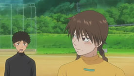 Abe clashes with Momoe over Mihashi's training. Momoe tells Abe, he doesn't know the role of a catcher.