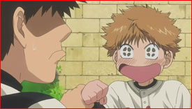 """I like Abe, too!"" blurts Mihashi innocently. An awkward moment for Abe that's too much like a confession."