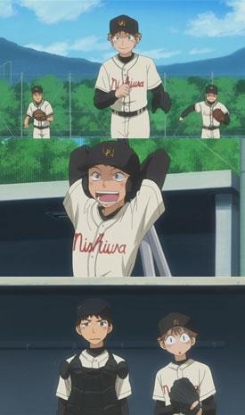 """Boku Taijima desu! (Tajima) You mean """"bakka"""" desu. (Abe)"""