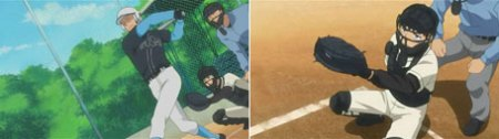 ...the pitcher holds the ball, and now he lets it go; the air is shattered by the force of Oda's blow.
